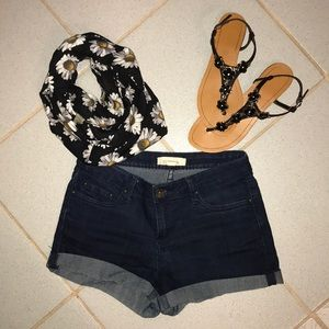 Forever21 Navy Blue Jean Shorties